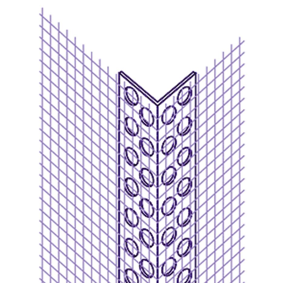 Угловой профиль ПВХ с армирующей сеткой фасадной